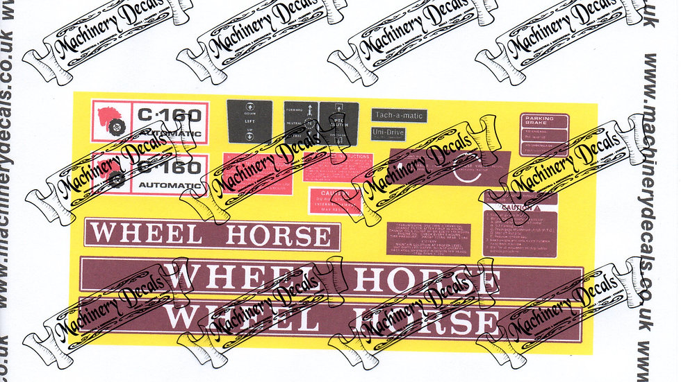 WHEELHORSE C-160 AUTOMATIC DECAL SET