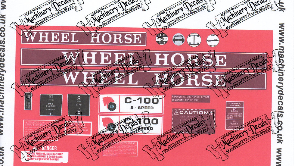 WHEELHORSE C-100 DECAL SET