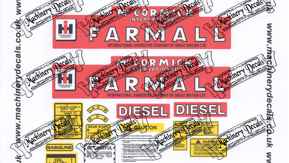 FARMALL SUPER BMD465 DECALS SET