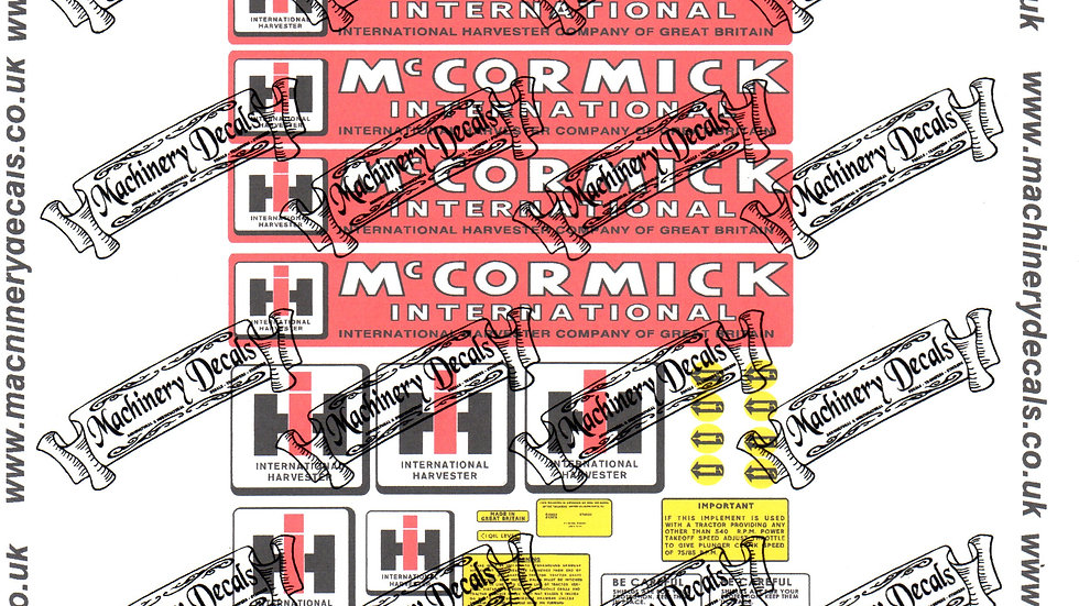 McCORMICK INTERNATIONAL B46 BALER DECALS