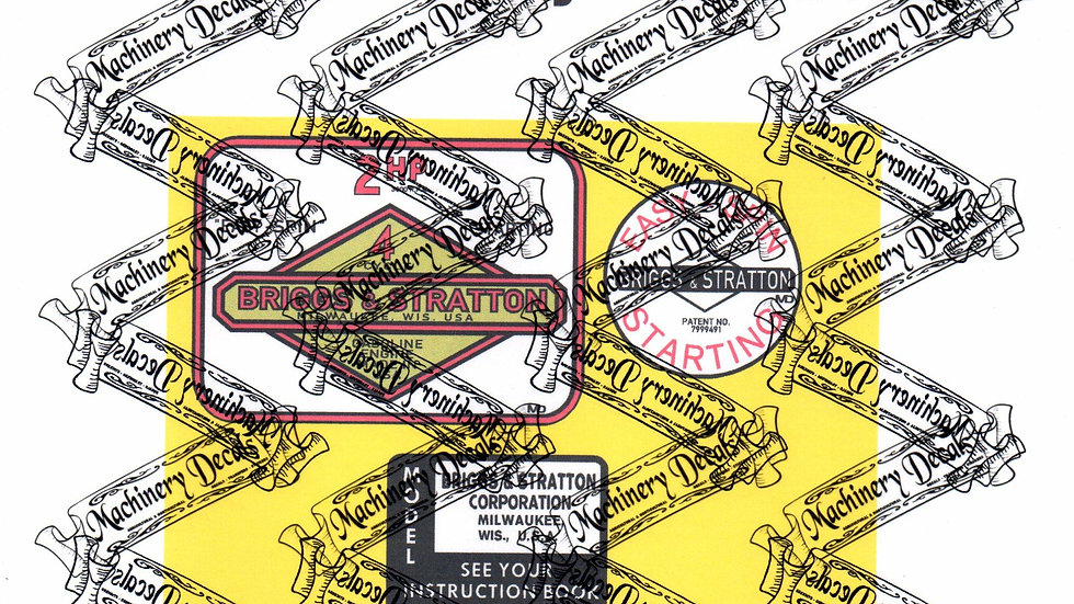 BRIGGS & STRATTON EARLY 2hp ENGINE DECALS