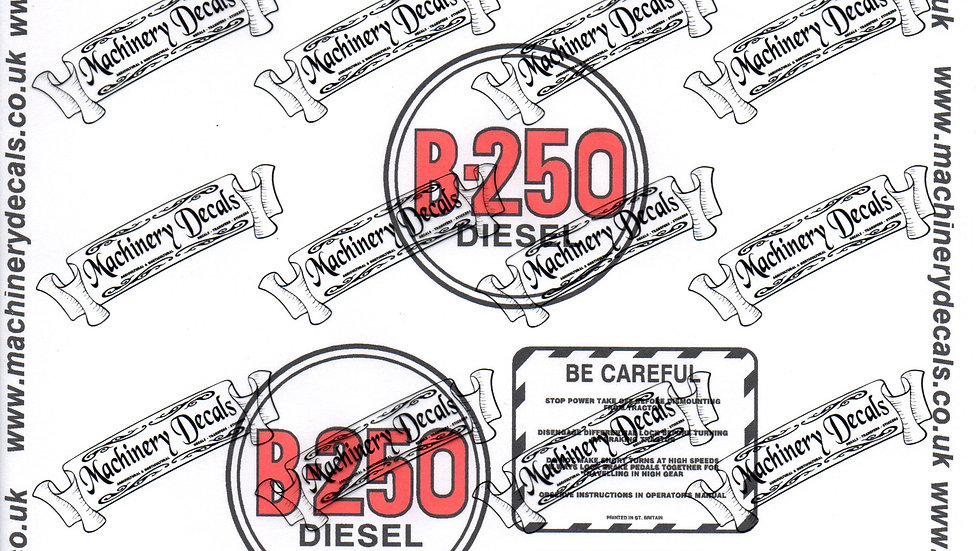 INTERNATIONAL B250 DECAL SET