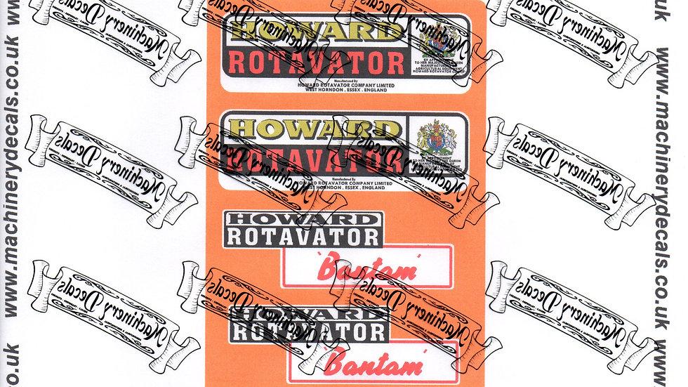 HOWARD BANTAM ROTAVATOR DECALS