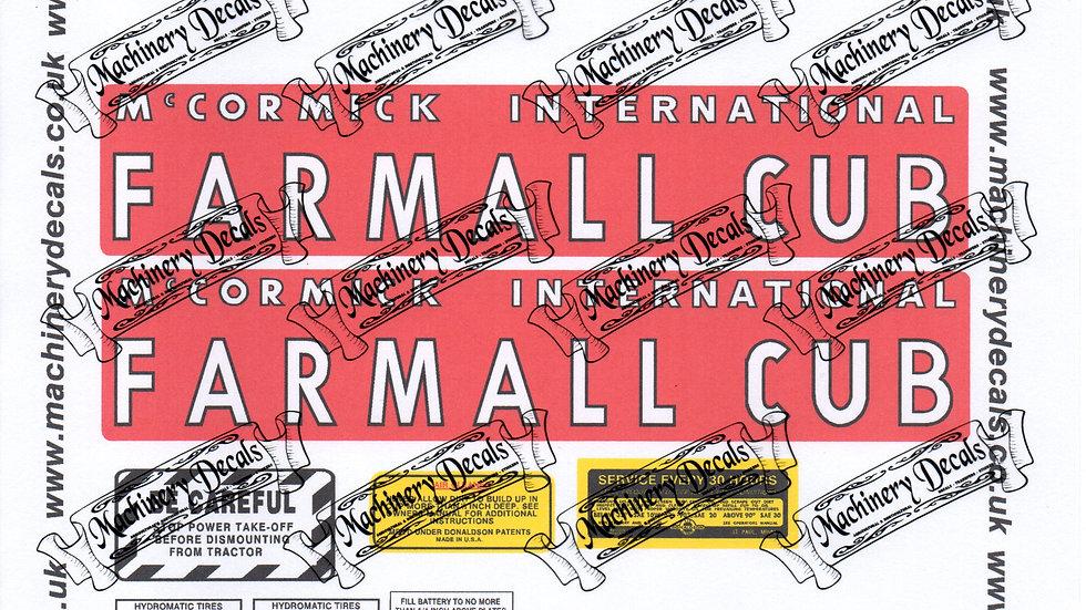 FARMALL CUB DECAL SET