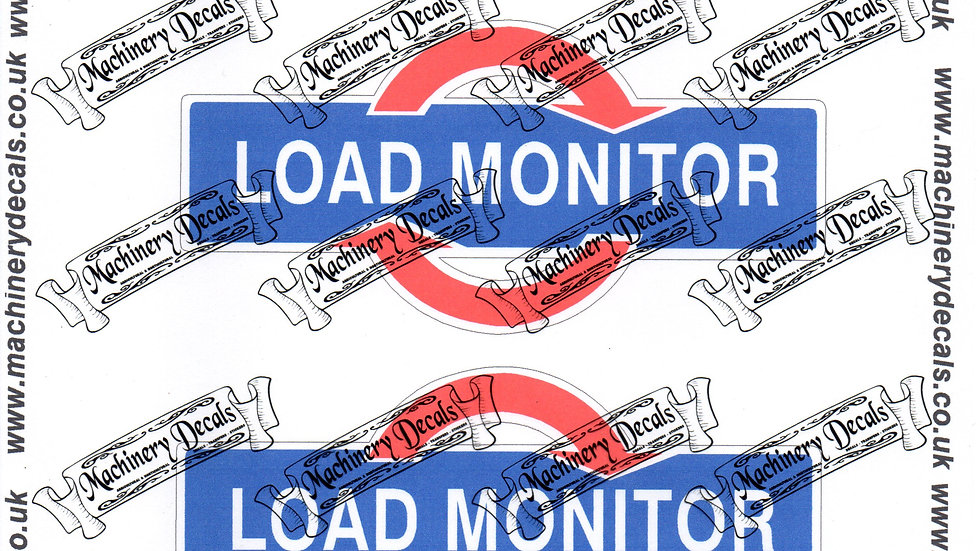 FORD LOAD MONITOR DECALS