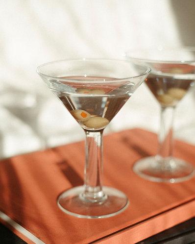 Thick Stemmed Martini Glasses (Set)