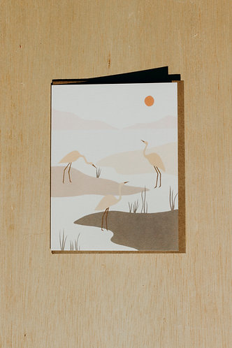 Marsh Birds Card
