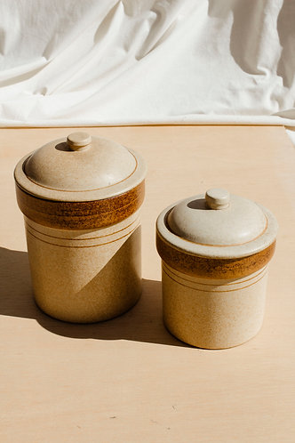 Set of Two Ceramic Containers