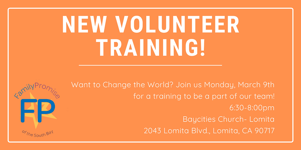 New Volunteer Training-Baycities!