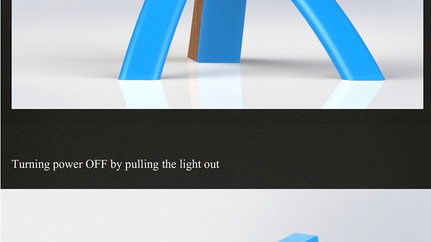 Detachable. LED desk lamp