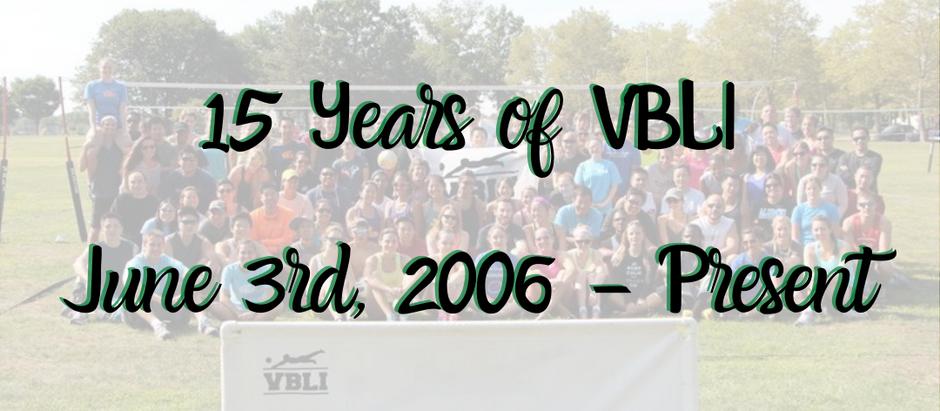 15 Years of VBLI!