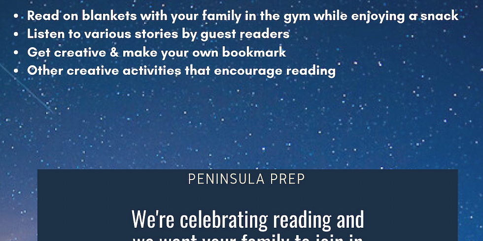 Peninsula Prep Reading Under the Stars