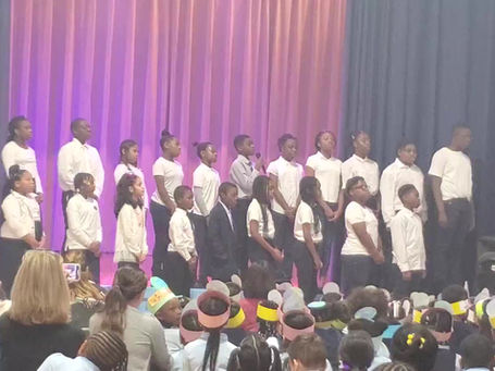 "PPA Chorale Singing ""If I Can Help Somebody"" at the Peninsula Prep Martin Luther King, Jr. Assembly"
