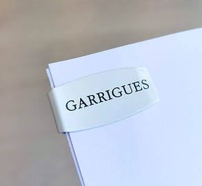 Clip Garrigues, logoclip, clip blanco Garrigues