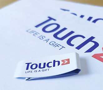 Dutchclip color Touch, trombone promotionnel Touch, trombone blanc Touch, clip logo touch