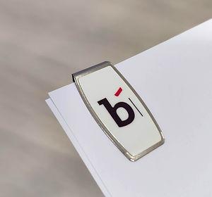 clip B, clip personalizado Bankoa, clip logo Bankoa