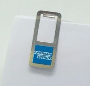 clip American Express, markclip, clip metálico promocional