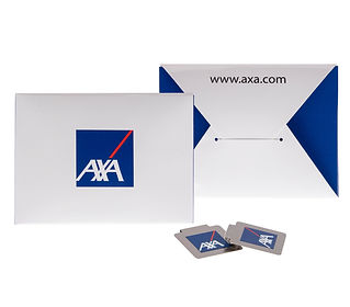 Recyclable promotional pouch paper bind