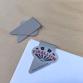 clip Firallum, wingclip, markclip, clip promocional con forma