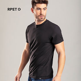 T-shirt technique pour adulte Markus en matériau RPET respirant 135g/m2, obtenu à partir de matières plastiques recyclées