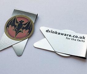Clip Bacardi, wingclip, clip impresión 2 caras, clip con formas