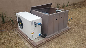 Pool heater, pool heat pump