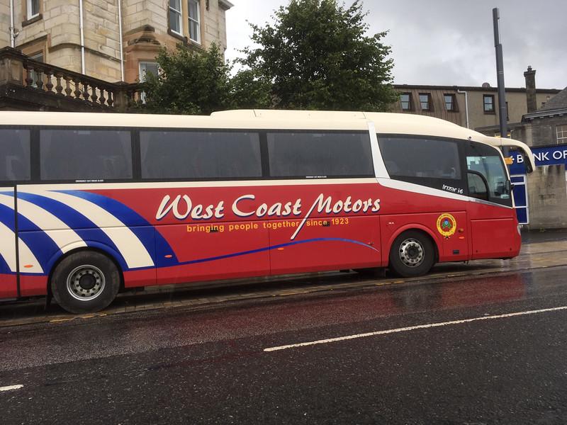 Glasgow to Oban bus in Oban