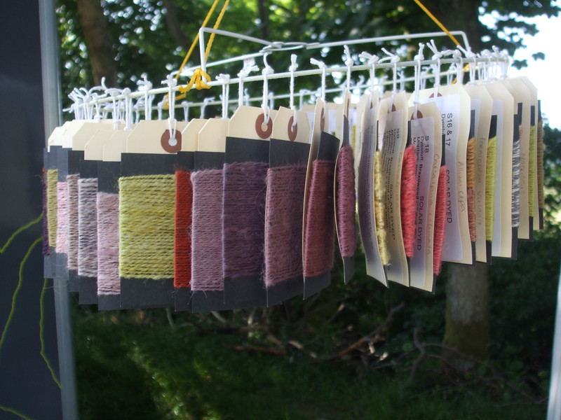 samples of solar dyed yarn