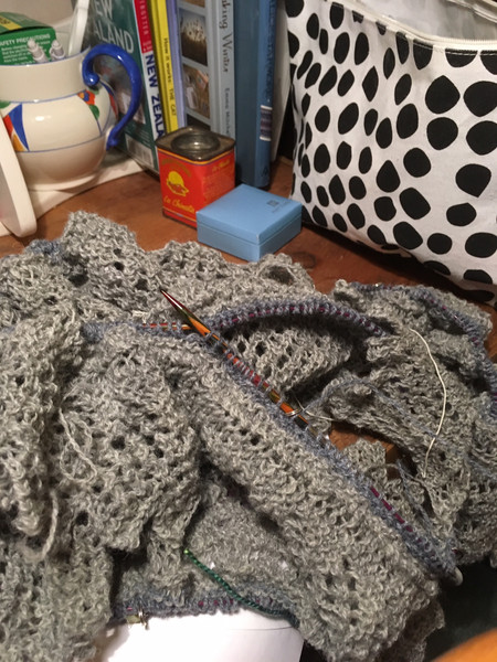 Miles of grey lace edging