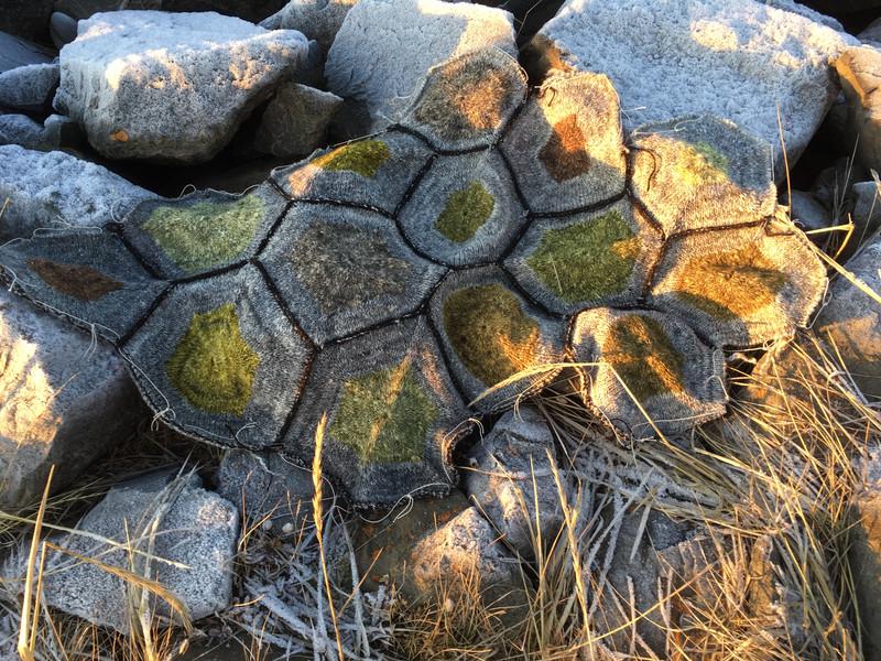 work in progress on the rocks