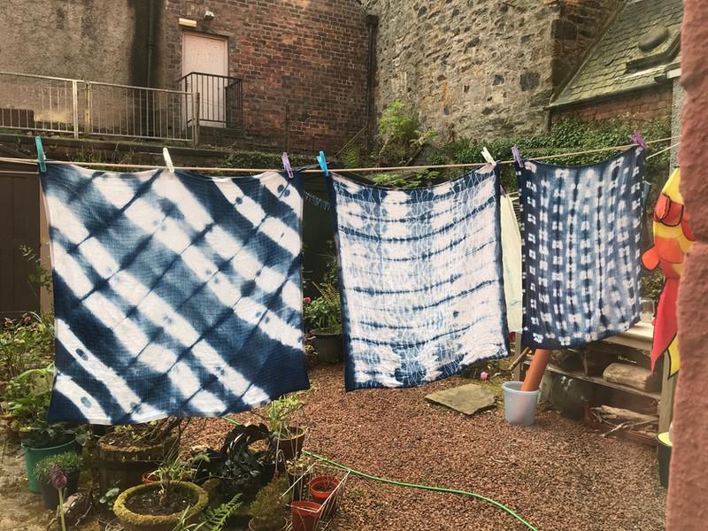Shibori and Indigo dyeing