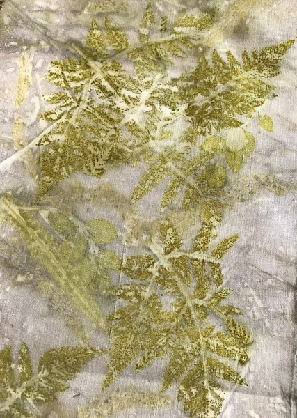 Queen Anne's Lace on linen