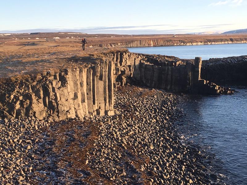 Basalt clifs at Kalfshamarsvi