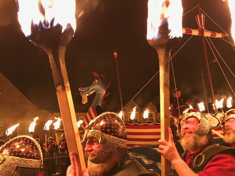 Up Helly Aa Galley and Guisers