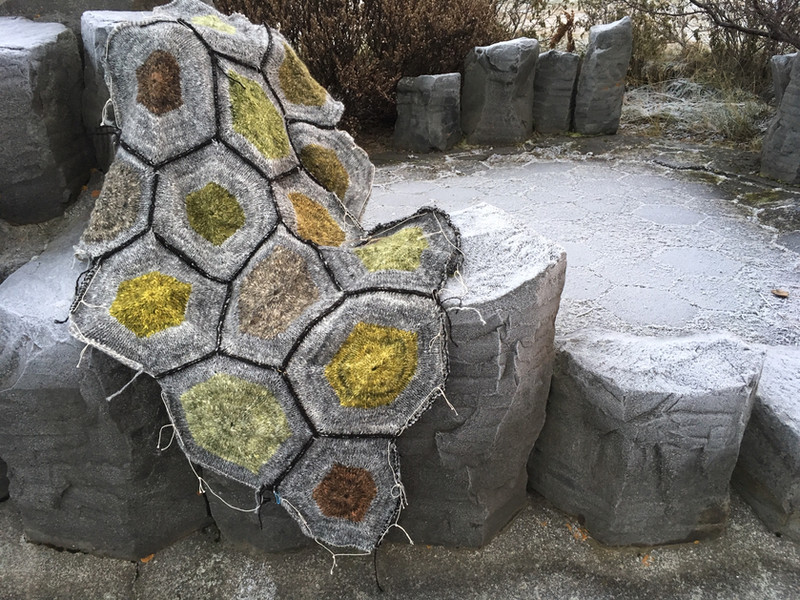 Basalt - handspun and handknitted Icelandic wool