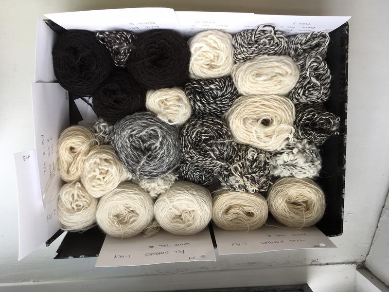 Handspun Icelandic yarns spun for texture