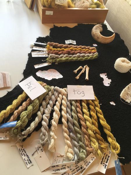 Display of Icelandic dyed yarns