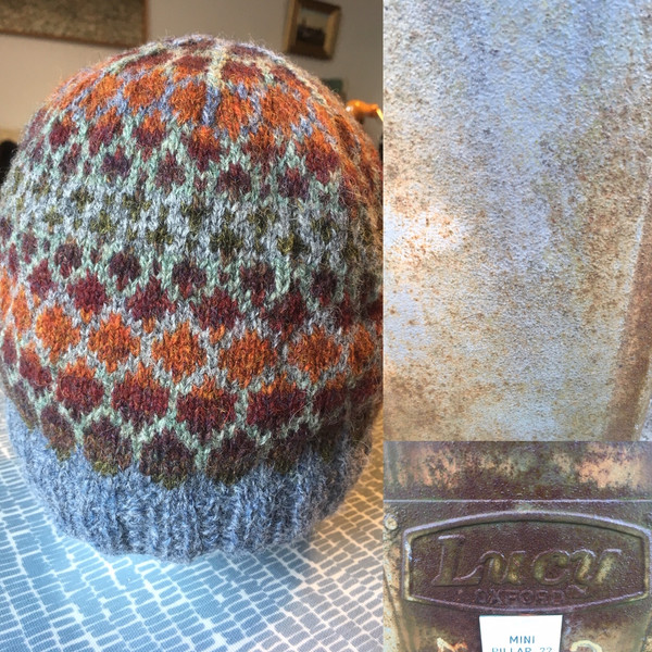 Lucy colourway (Shenstone hat by Felicity Ford)