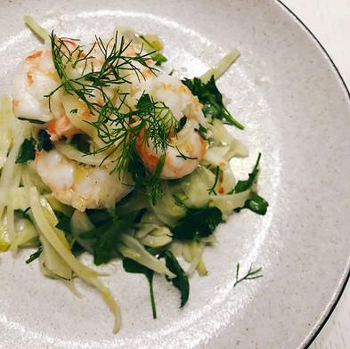 Saturday • Fennel, onion, parsley, shrim