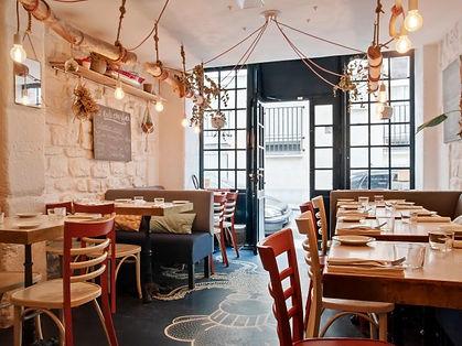 intérieur du restaurant Homies bis à Pars