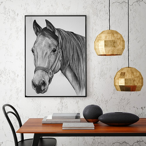 Exclusive & Limited Art Horse Sketch Art Print - Signed