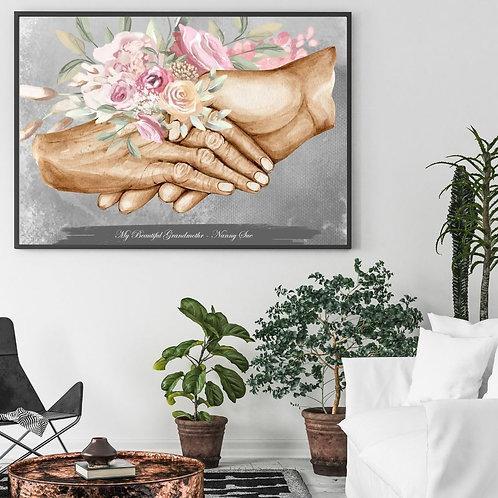 Grandmother & Female Hand