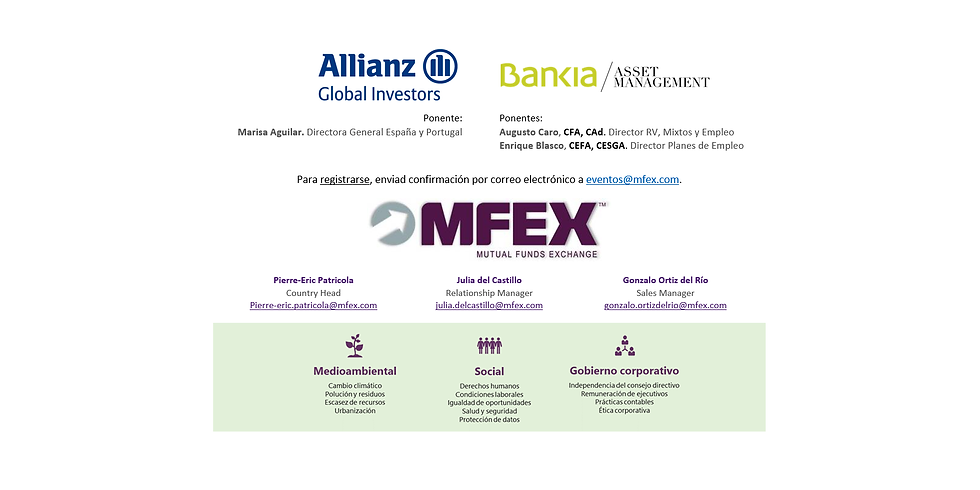 MFEX 2020 ESG Conference - Madrid