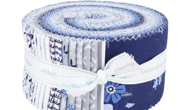 Blue Stitch Rolie Polie Christopher Thompson for Riley Blake Designs