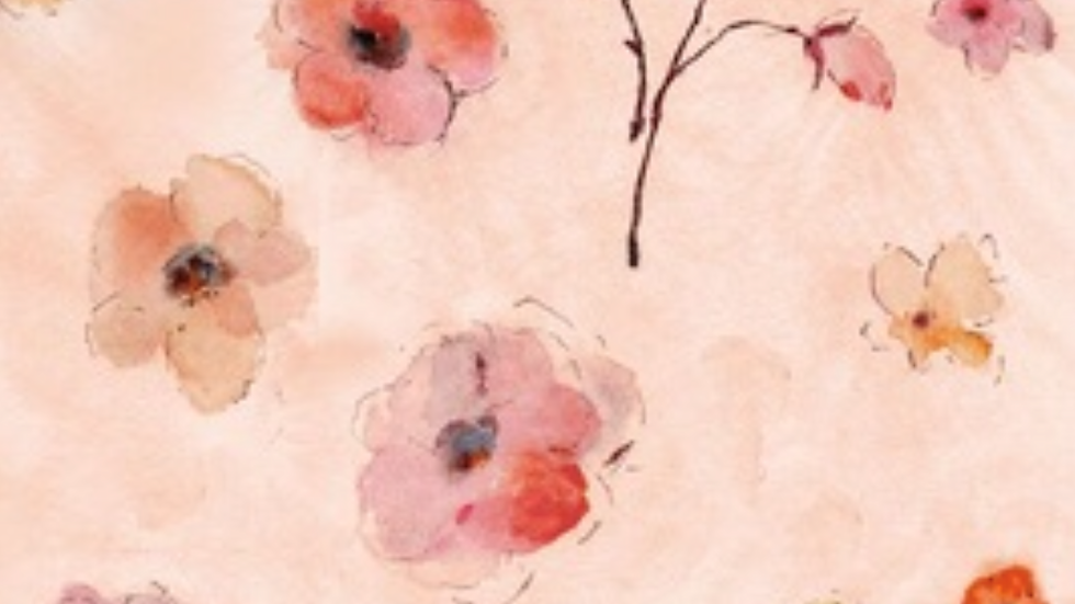 Timeless Treasures-Watercolor All Over Flowers