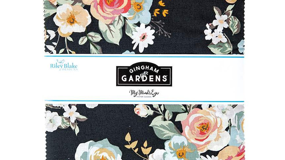 "Gingham Gardens 10"" Stacker 42PCS"