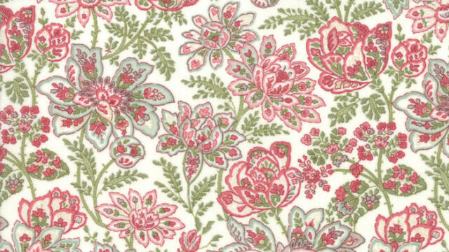 Rue 1800 Madeline Porcelain  by 3 Sisters for Moda Fabrics - Floral