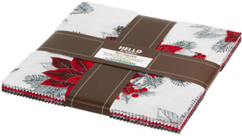 Holiday Flourish  - Silver Colorstory Ten Squares/Layer Cake by Studio RK for Ro