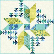 Wind Drifter Quilt Kit-Cottage Bleu by Robin Pickens for Moda Fabrics