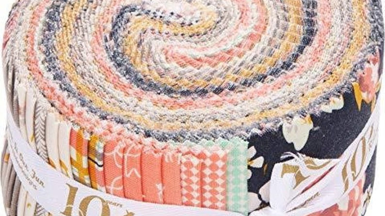 Amber Labau Golden Days Rolie Polie 40 2.5-inch Strips Jelly Roll Riley Blake
